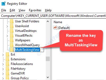 Nuova visualizzazione multitasking per la modifica del nome dei tasti