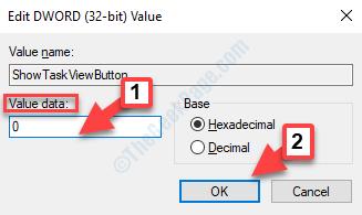 Modifica parola chiave (32 bit) Valore Dati valore 0 OK