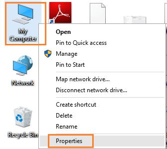 proprietà del computer
