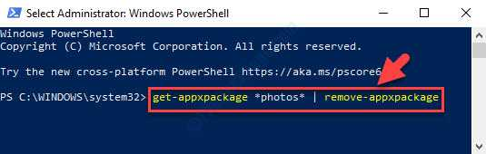 Windows Powershell (admin) Esegui il comando Invio