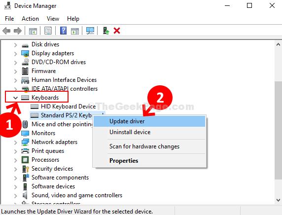 Tastiere di Gestione dispositivi Ps 2 Driver di aggiornamento della tastiera standard