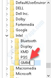 Intel New Key Rename Gmm