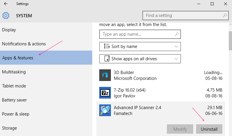 disinstallare-app-da-Windows-10