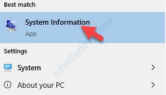 Risultato Fare clic con il pulsante sinistro del mouse su Informazioni di sistema