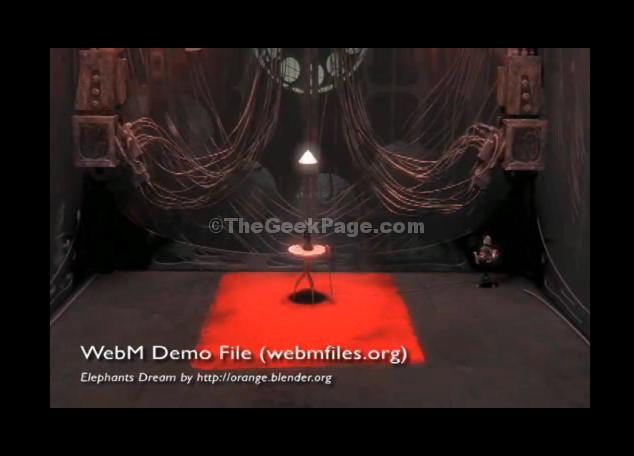 Chrome riproduce il file Webm
