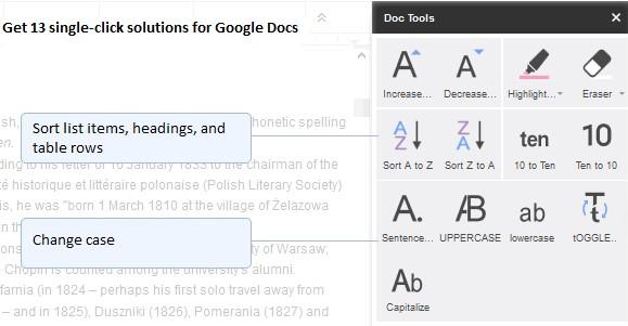 Componente aggiuntivo di Google Documenti