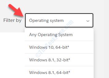 Filtra per sistema operativo in base al tipo di sistema