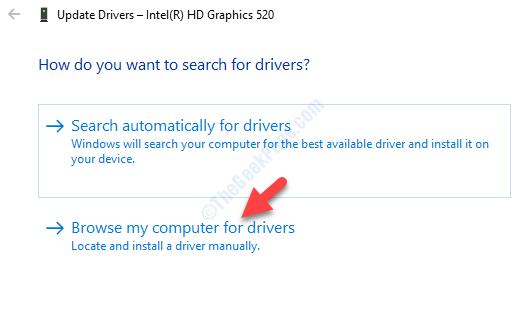 Aggiorna driver Trova i driver sul mio computer