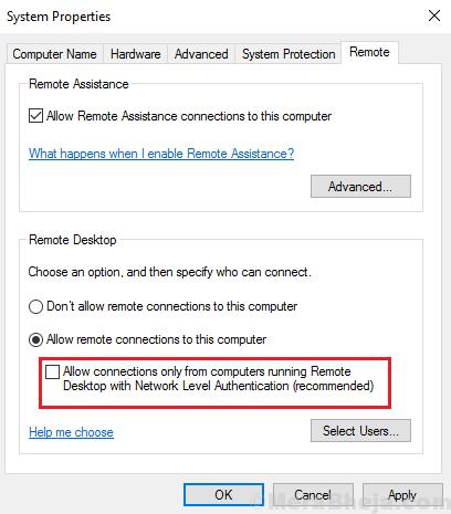 Disabilita Nla Windows 10 Min