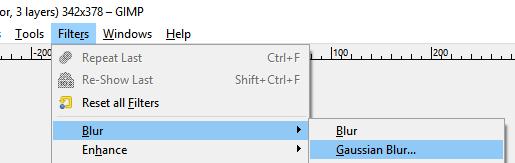 Gimp Gaussian Blur Filter