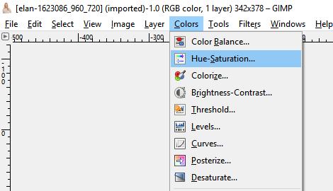 Scegli la saturazione della tonalità