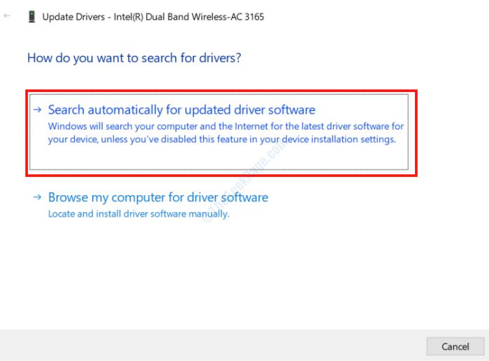 Driver di ricerca automatica