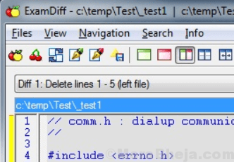 File Examdiff Confronta