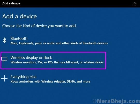 Aggiungi display wireless