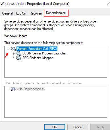 Dipendenze di Windows Update
