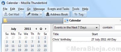 Calendario alleggerimento