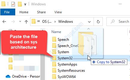 Copia il file System32 .dll o Syswow64 a seconda dell'architettura del sistema