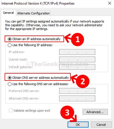 Protocollo Internet versione 4 (IPv4 tcp) Ottieni automaticamente un indirizzo IP Ottieni automaticamente un indirizzo del server DNS