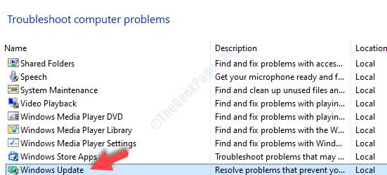 Risolvi i problemi del computer Windows Update