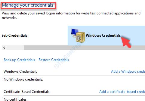 Gestisci le tue credenziali Credenziali di Windows Rimuovi tutte le credenziali relative a Office 365