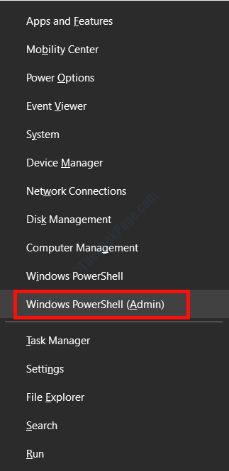 Menu Powershell