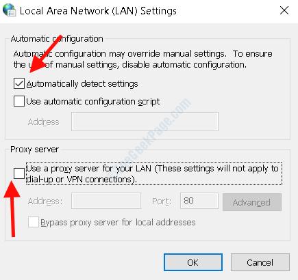 Rilevamento automatico impostazioni LAN