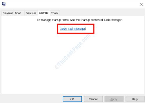 Apri Task Manager