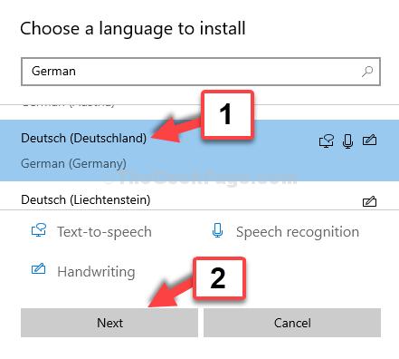 Scegli una lingua per installare il tedesco di seguito