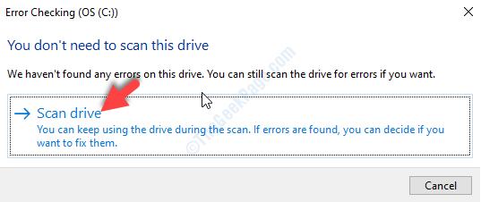 Impossibile controllare l'unità di scansione dei messaggi