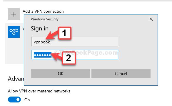 Nome utente di accesso Password