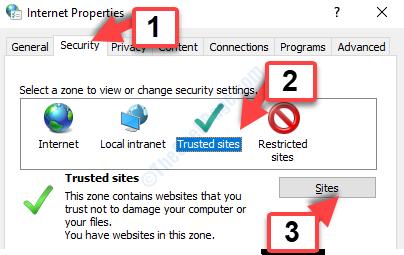 Opzioni Internet Scheda Protezione Siti attendibili Siti