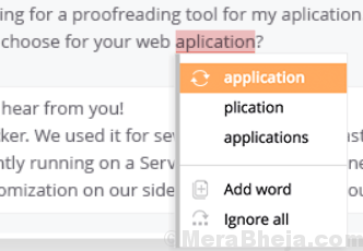 Controllo ortografico web