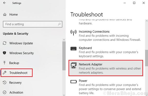 Risoluzione dei problemi della scheda di rete