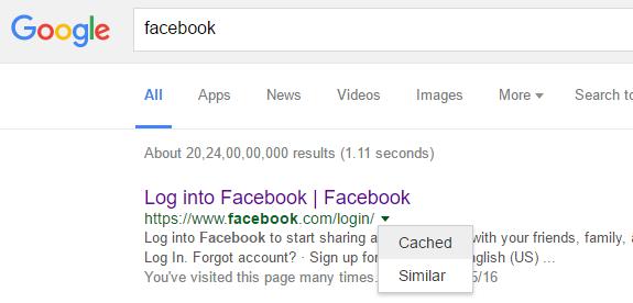 cache di Google