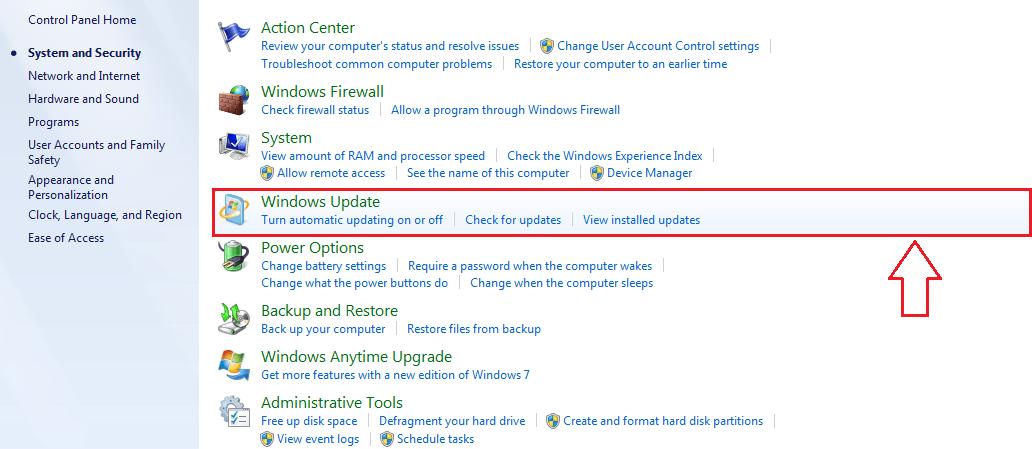 6 aggiornamenti di Windows