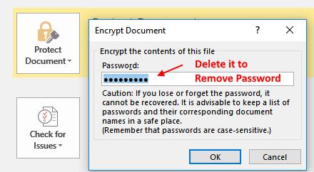 Proteggi il documento