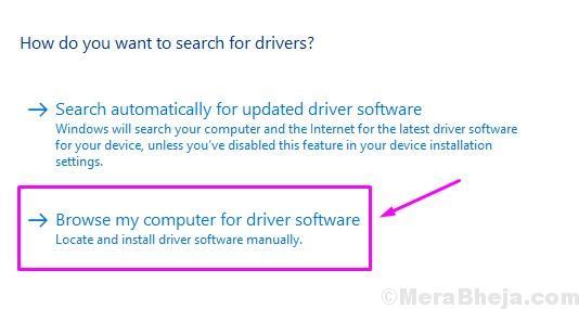 Cerca nel mio computer il software del driver