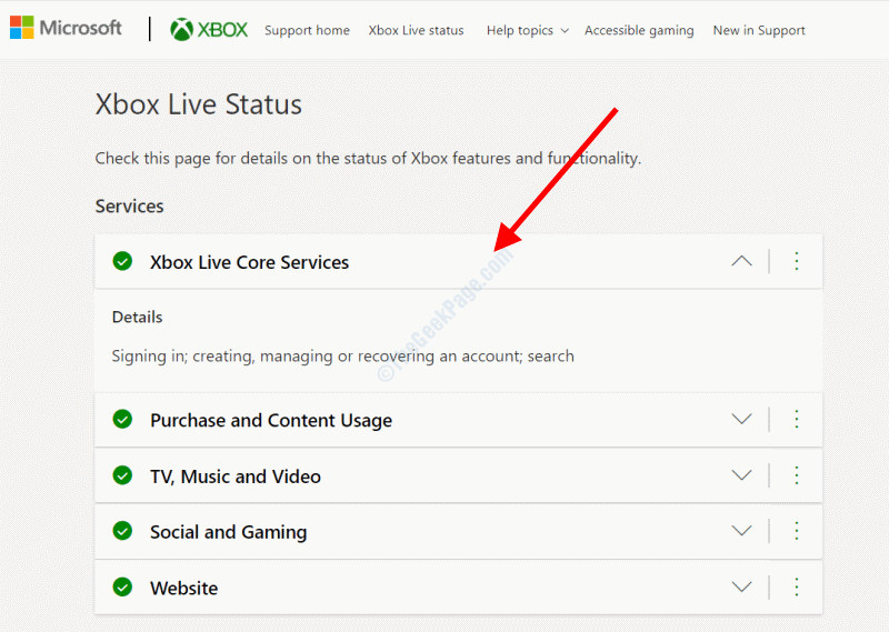 Stato Xbox Live