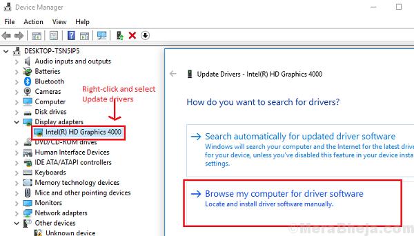 Trova i driver sul tuo computer