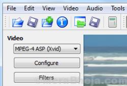 Formato video Avidemux Conversione min