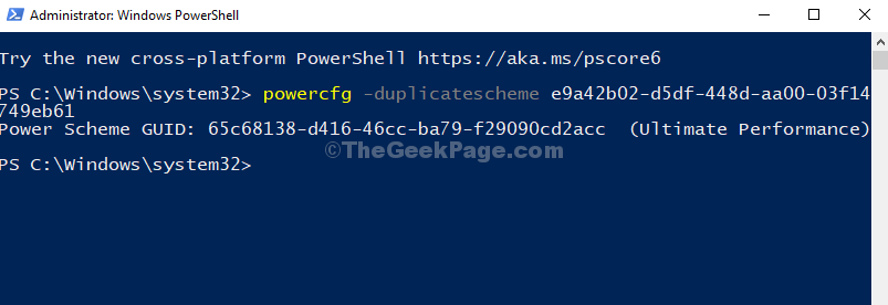 Windows Powershell Immettere il comando Esegui