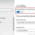 Come abilitare / disabilitare la riproduzione automatica in Windows 10