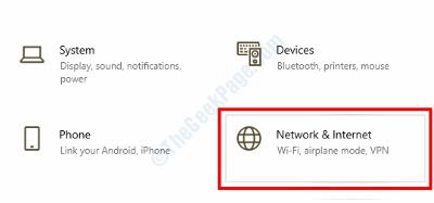 Impostazioni di rete Internet
