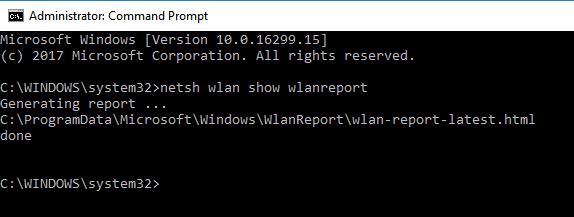 Rapporto WLAN