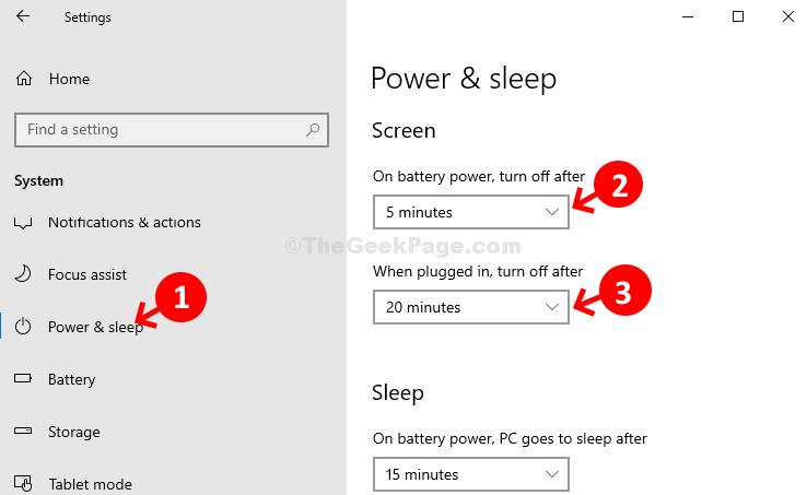 Schermata di accensione e sospensione del sistema Imposta il tempo di accensione della batteria e quando è connesso