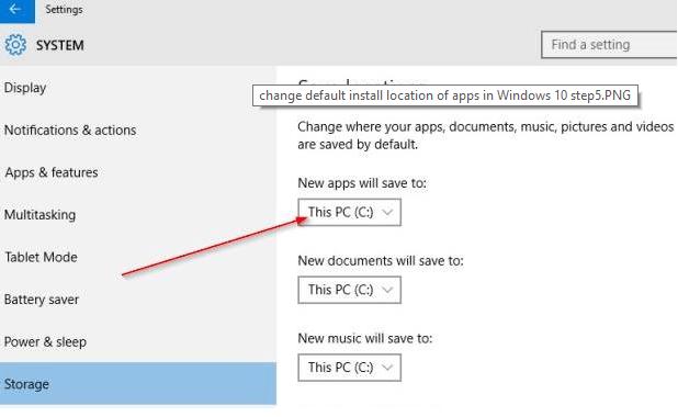 modifica-cartella-installazione-windows-10-applicazioni