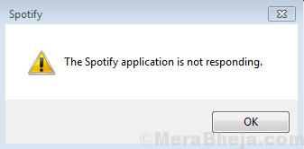 L'app Spotify non risponde
