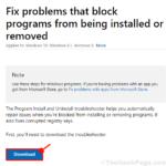 Eseguire la risoluzione dei problemi di installazione e disinstallazione del programma in Windows 10