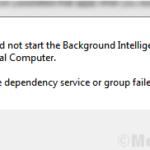 Fix Windows non poteva avviare Background Intelligent Transfer Service (BITS) in Windows 10
