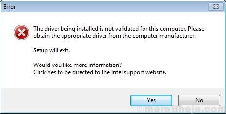 Il driver installato non è convalidato per questo computer